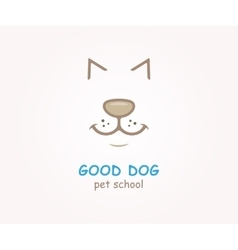 Logo design element Dog animal pet vector