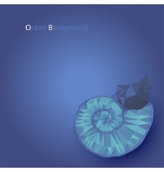 Low poly shell nautilus in ocean vector image