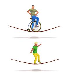 Man balancer set vector