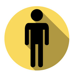 man sign flat black icon vector image