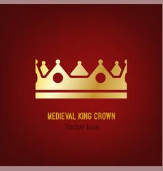 medieval king crown vector image
