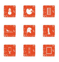 Occasion icons set grunge style vector