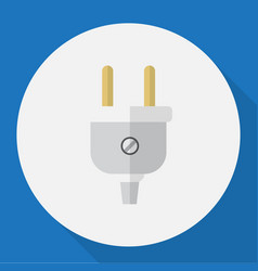 of electric symbol on plug vector image