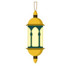 ornament hanging golden lantern design vector image