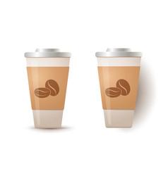 paper mug with coffee vector image