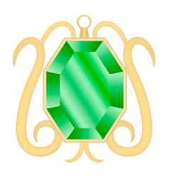 Peridot gemstone mockup realistic style vector