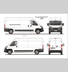 Peugeot boxer cargo delivery van 2017 l3h2 vector