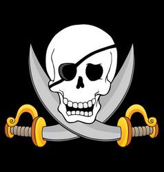 Pirate skull theme 3 vector