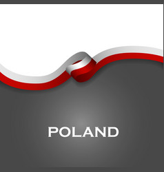 Poland sport style flag ribbon classic style vector