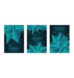 polygonal abstract futuristic dark blue template vector image