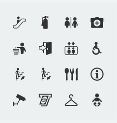 public signs icons set vector image
