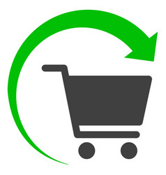 Repeat shopping order flat icon symbol vector