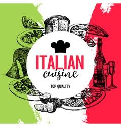 restaurant italian cuisine menu design vintage vector image