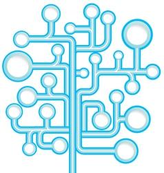 Round speech bubble tree vector image