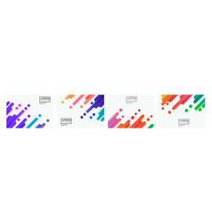 set colorful gradient oblique strip on white vector image