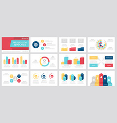 Set grey yellow red dark blue and turquoise vector