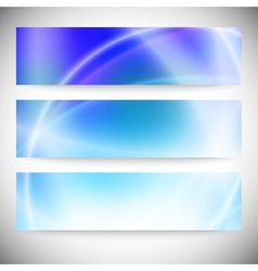 Set of horizontal banners Abstract background blue vector image