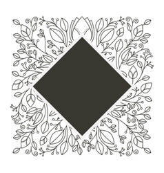 Silhouette diamond decorative ornament floral vector
