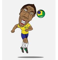 soccer player Brazil vector image