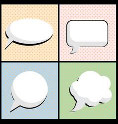 speech bubble in pop art style vector image