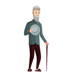 stage development - old grandfather vector image