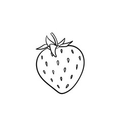 Strawberry hand drawn sketch icon vector