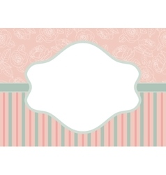 stripes and roses on pink vector image
