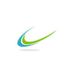Swoosh unique logo vector