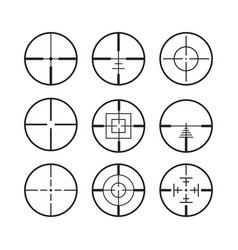 targets and destination military icon set symbol vector image