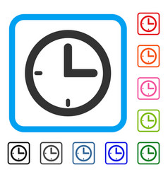 Time framed icon vector