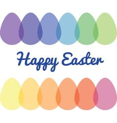 Transparent easter eggs vector