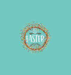 typographic badges - happy easter on basis of vector image