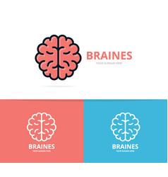 unique brain and mind logo design template vector image