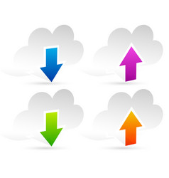 upload download clouds vector image