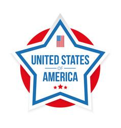 usa flag stripes and star vector image