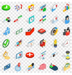 Value icons set isometric style vector