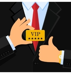 VIP concept Business man vector image