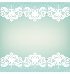 White lace edgings vector