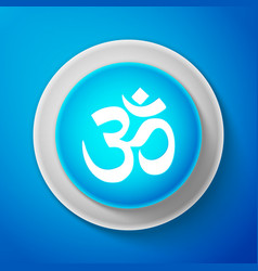 White om or aum indian sacred sound icon isolated vector