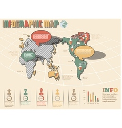 WORLD MAP INFOGRAPHICS 2 NEW STYLE vector image