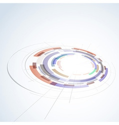 Abstract circle stage design element vector image