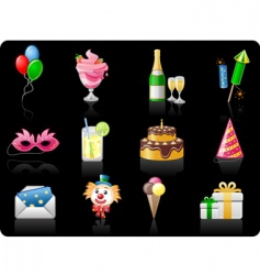 birthday black background vector image vector image