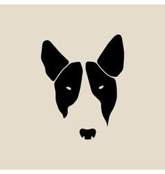 Bull terrier face Dog head vector image vector image