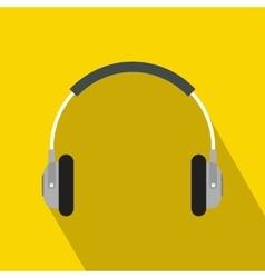 Headphones icon in flat style vector image