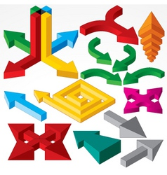 isometric arrows vector image vector image