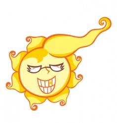 mr sun shine vector image vector image