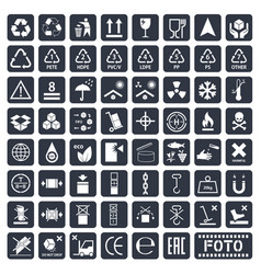 packaging icons set vector image