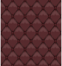 Seamless Brown Upholstery Leather vector image