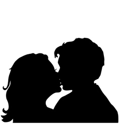 Love Pair Kiss vector image vector image