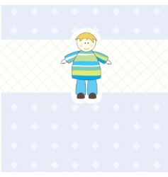 baby boy arrival card illustration vector image